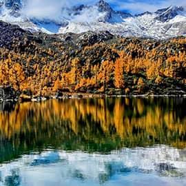 党岭风景秀丽,其雄奇壮美的雪峰、星罗棋布的高山湖泊、原始天然的露天温泉、苍翠茂密的原始森林、缓缓流淌的清溪、绿茵似毯的草甸、珍奇稀有的动植物共同组成。党岭雪山也是红军长征时翻越的海拔最高的雪山。