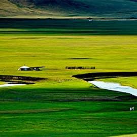 莫日格勒河是陈巴尔虎旗的一条蜿蜒曲折的河水,天下第一曲水。。一代天骄成吉思汗曾在这里秣马厉兵,与各部落争雄,最终占据了呼伦贝尔草原。