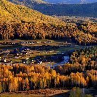 禾木村,禾木 乡是 中国 西部最北端的乡。 禾木 村是著名的图瓦人村庄之一,也是仅存的3个图瓦人村落( 禾木 村、 喀纳斯 村和 白哈巴 村)中最远和最大的村庄。 禾木 全乡现有1800余人,以 蒙古 族图瓦人和哈萨克族为主,他们的木屋散布在山地草原上。