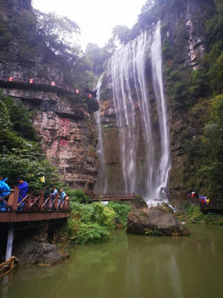 三峡大瀑布,三峡大瀑布景区中最壮观的是高102米、宽80米的白果树大瀑布,全国很多瀑布一般是远观或是坐船近距离观看。 三峡大瀑布虽不是落差最大的,不是最宽的,也不是跨国的,但游客能从瀑布下穿行而过,应该算是互动性最强的瀑布了。