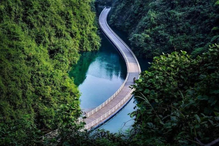 武陵山十佳景点,宣恩狮子关旅游
